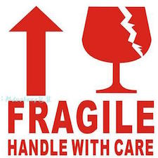 FRAGILE Sticker - Extraspace : Extraspace